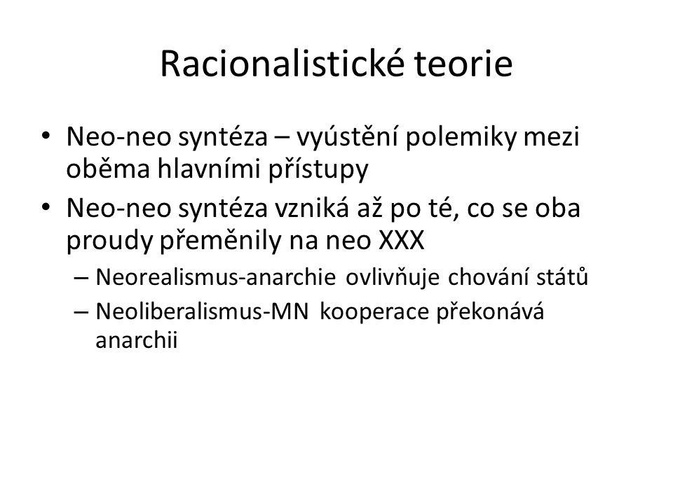 Racionalistické teorie