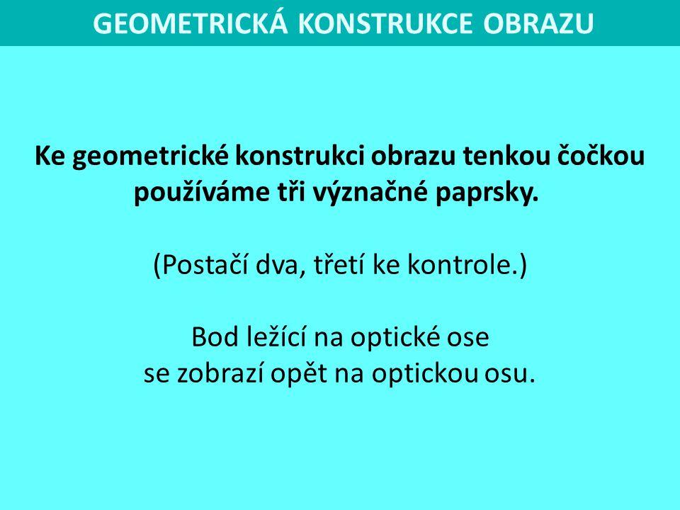 GEOMETRICKÁ KONSTRUKCE OBRAZU
