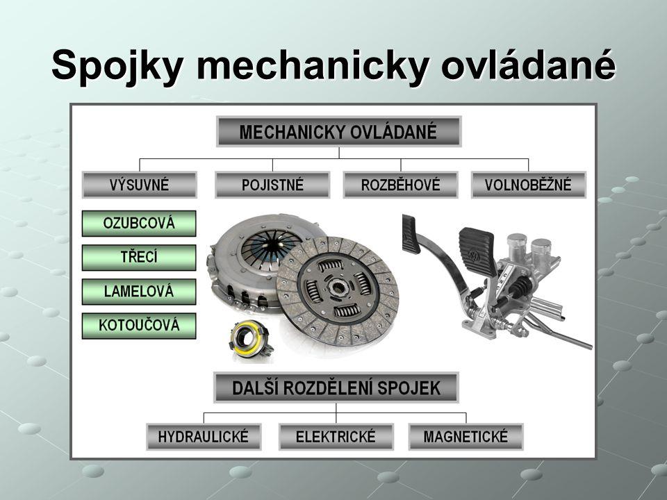 Spojky mechanicky ovládané