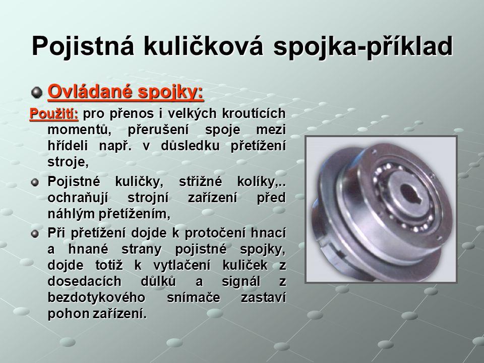 Pojistná kuličková spojka-příklad