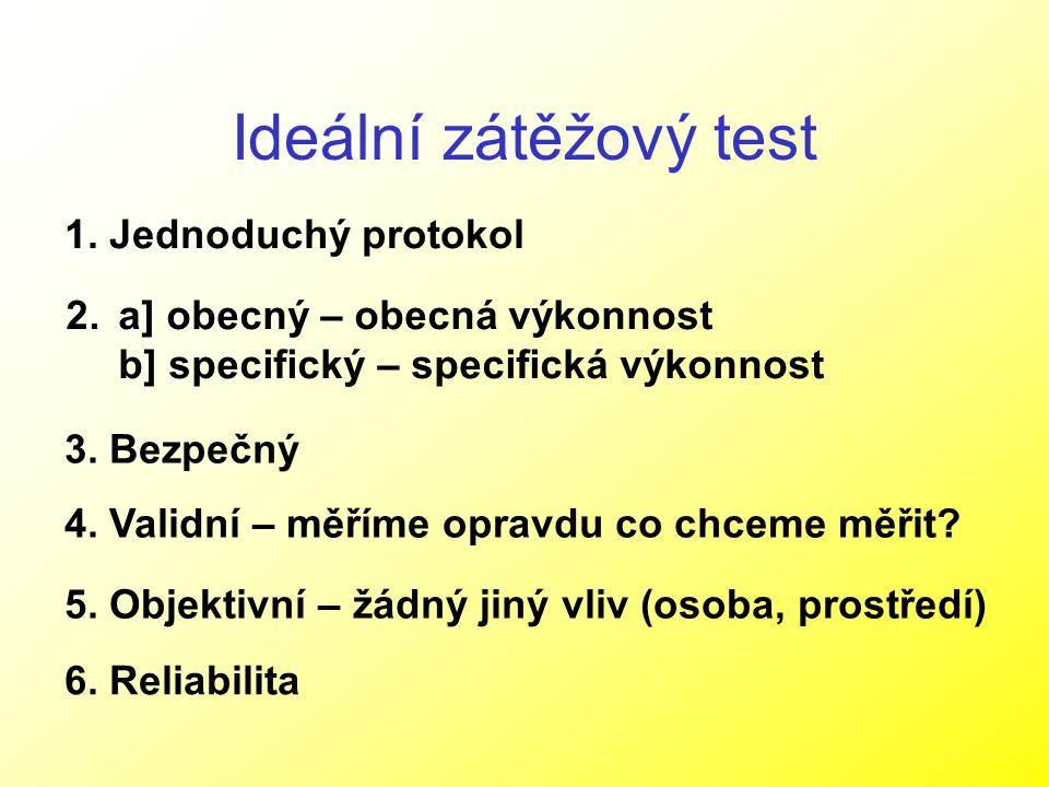 Ideální zátěžový test 1. Jednoduchý protokol