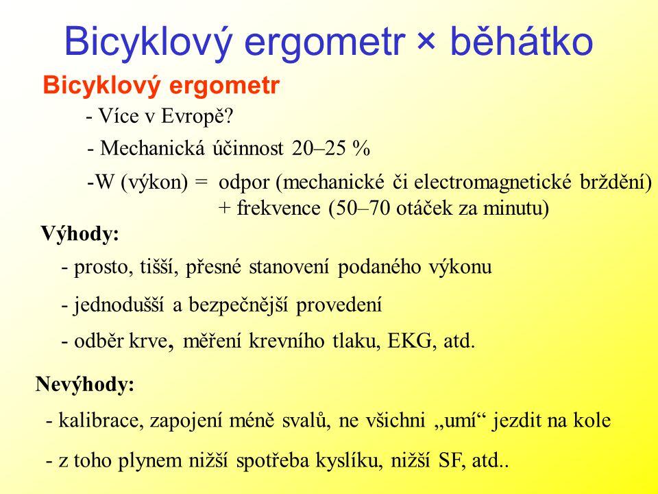 Bicyklový ergometr × běhátko