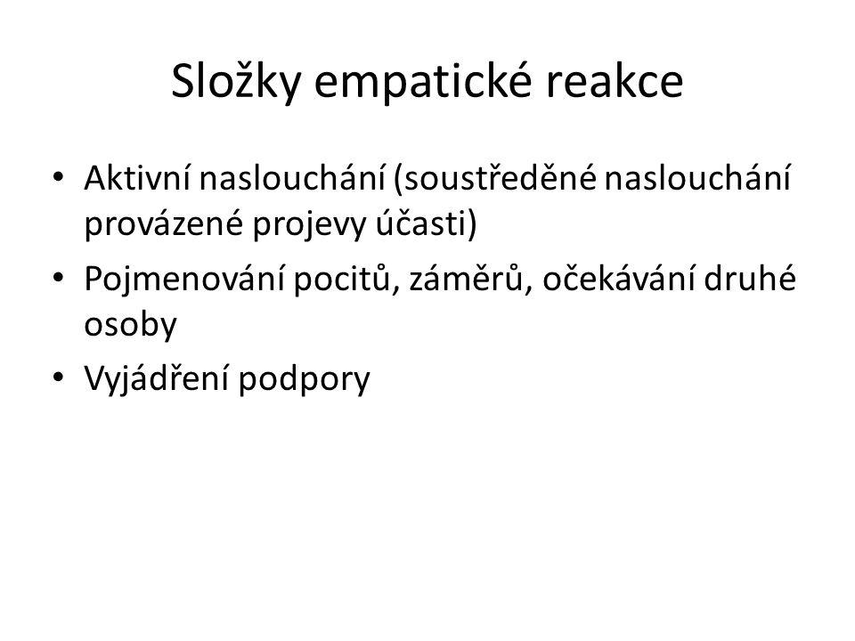 Složky empatické reakce