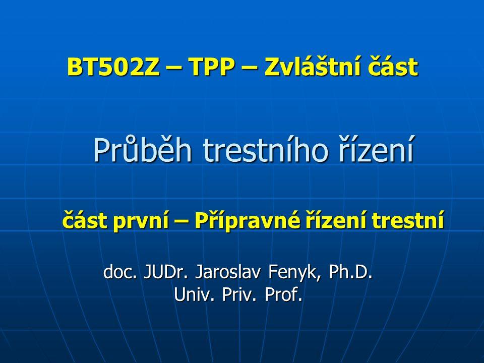BT502Z – TPP – Zvláštní část