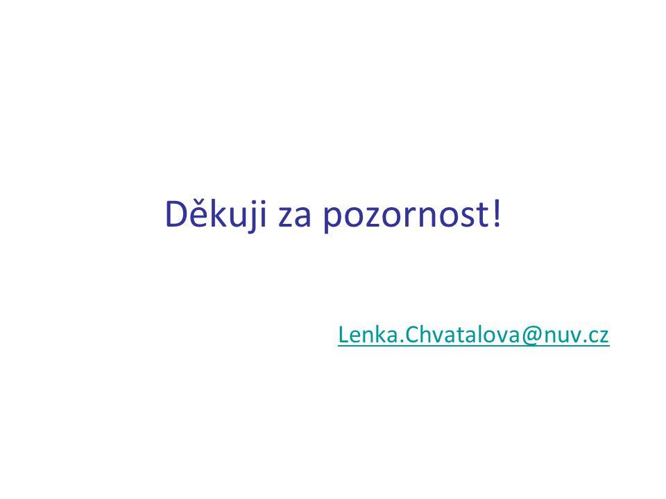 Děkuji za pozornost! Lenka.Chvatalova@nuv.cz