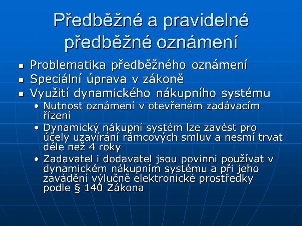 Předběžné a pravidelné předběžné oznámení