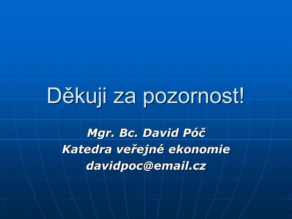 Mgr. Bc. David Póč Katedra veřejné ekonomie davidpoc@email.cz