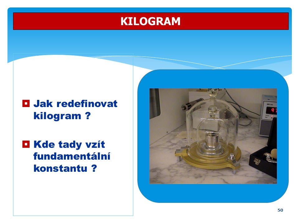 KILOGRAM Jak redefinovat kilogram