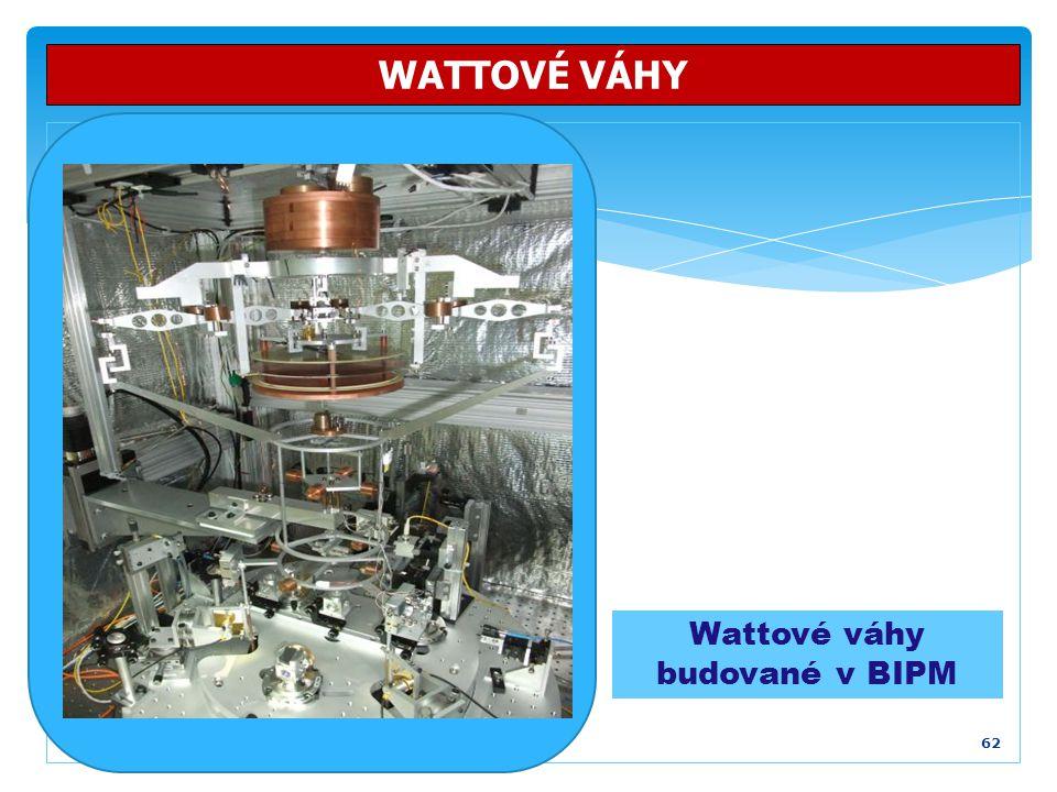 Wattové váhy budované v BIPM