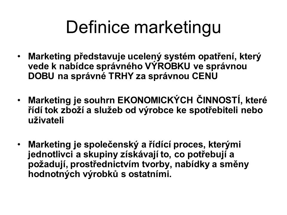 Definice marketingu
