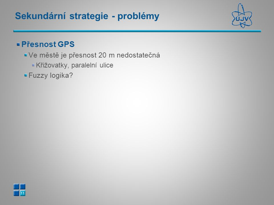 Sekundární strategie - problémy