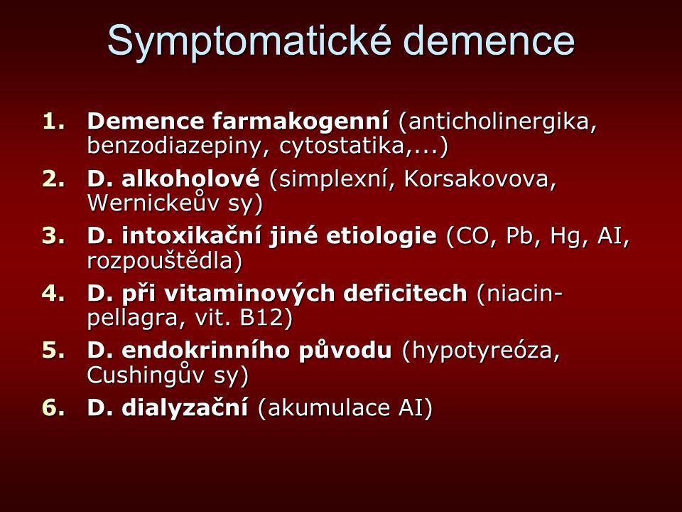 Symptomatické demence
