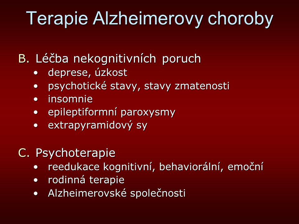 Terapie Alzheimerovy choroby