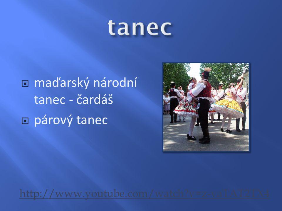 tanec maďarský národní tanec - čardáš párový tanec