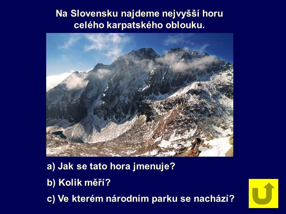 Na Slovensku najdeme nejvyšší horu celého karpatského oblouku.