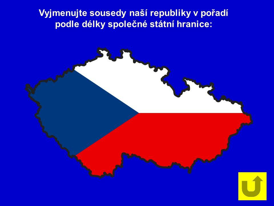 Vyjmenujte sousedy naší republiky v pořadí