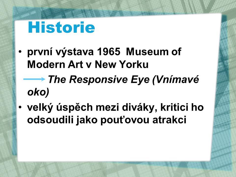 Historie první výstava 1965 Museum of Modern Art v New Yorku