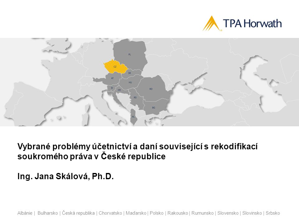 Vybrané problémy účetnictví a daní související s rekodifikací soukromého práva v České republice