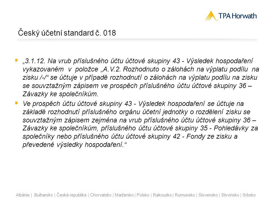 Český účetní standard č. 018