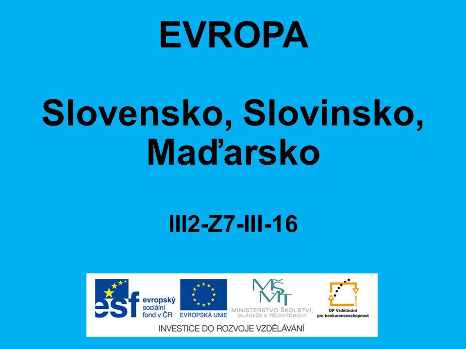 Slovensko, Slovinsko, Maďarsko III2-Z7-III-16