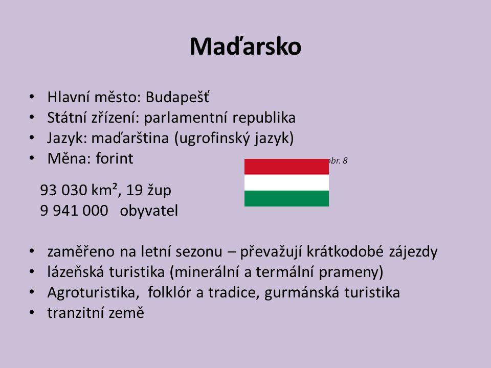 Maďarsko Hlavní město: Budapešť Státní zřízení: parlamentní republika