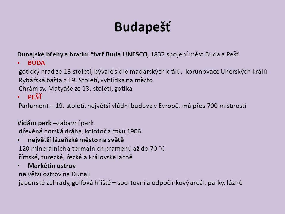 Budapešť Dunajské břehy a hradní čtvrť Buda UNESCO, 1837 spojení měst Buda a Pešť. BUDA.
