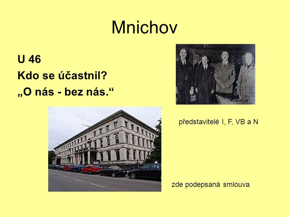"""Mnichov U 46 Kdo se účastnil """"O nás - bez nás."""
