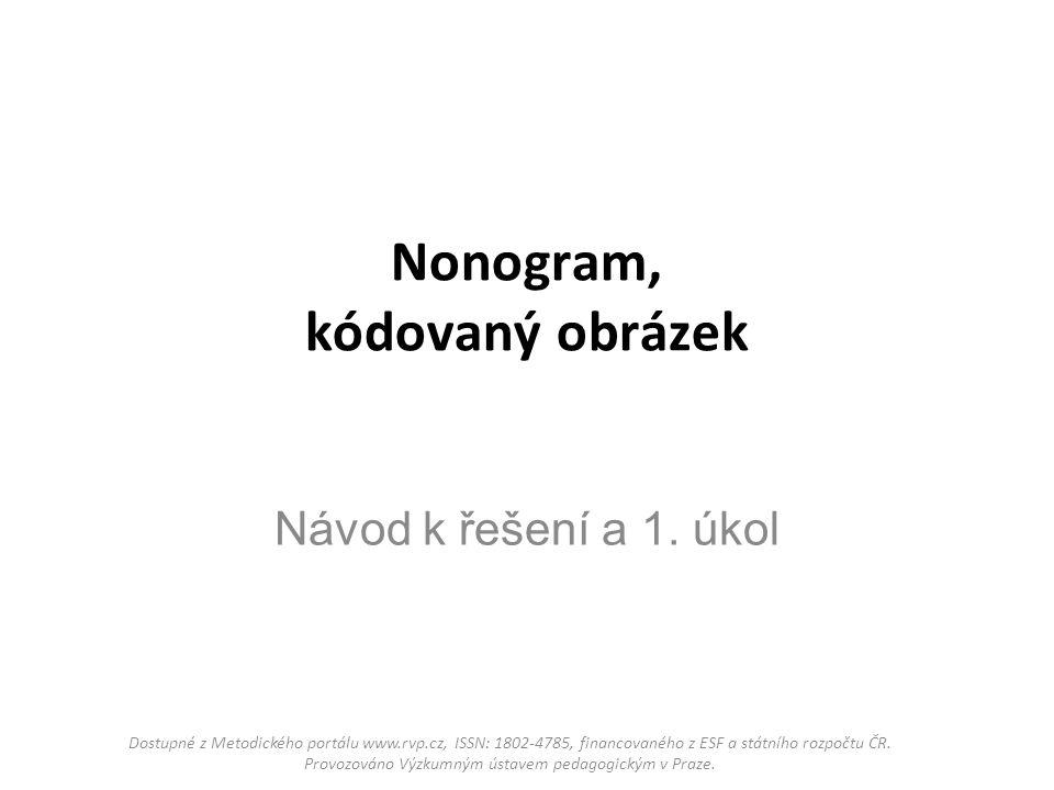 Nonogram, kódovaný obrázek