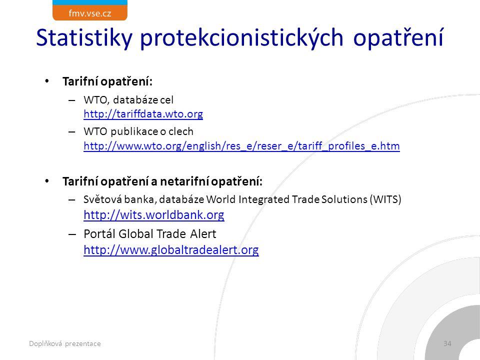 Statistiky protekcionistických opatření
