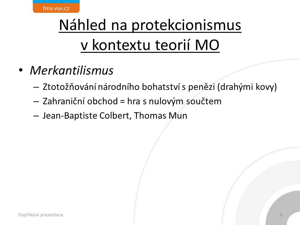 Náhled na protekcionismus v kontextu teorií MO