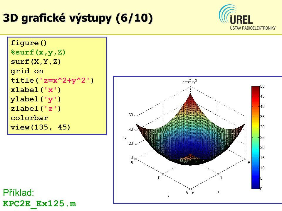 3D grafické výstupy (6/10) Příklad: KPC2E_Ex125.m figure()