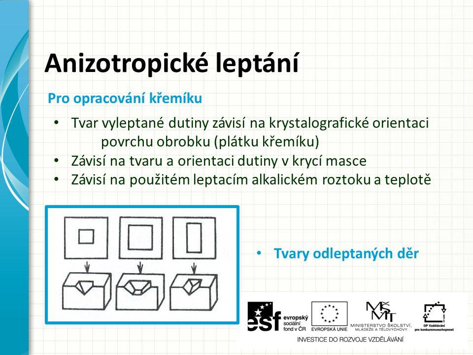 Anizotropické leptání