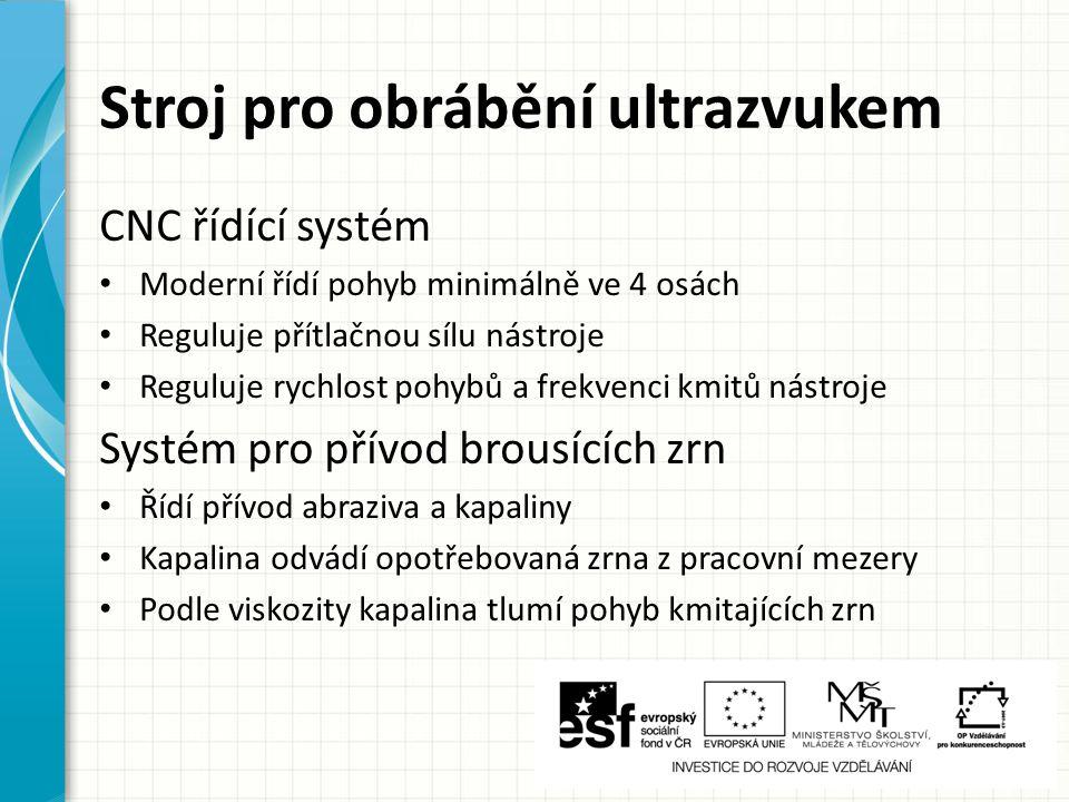 Stroj pro obrábění ultrazvukem
