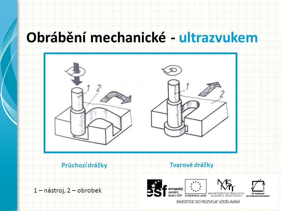 Obrábění mechanické - ultrazvukem