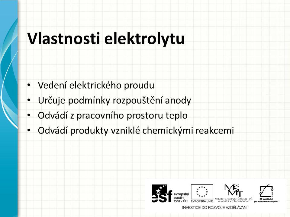 Vlastnosti elektrolytu