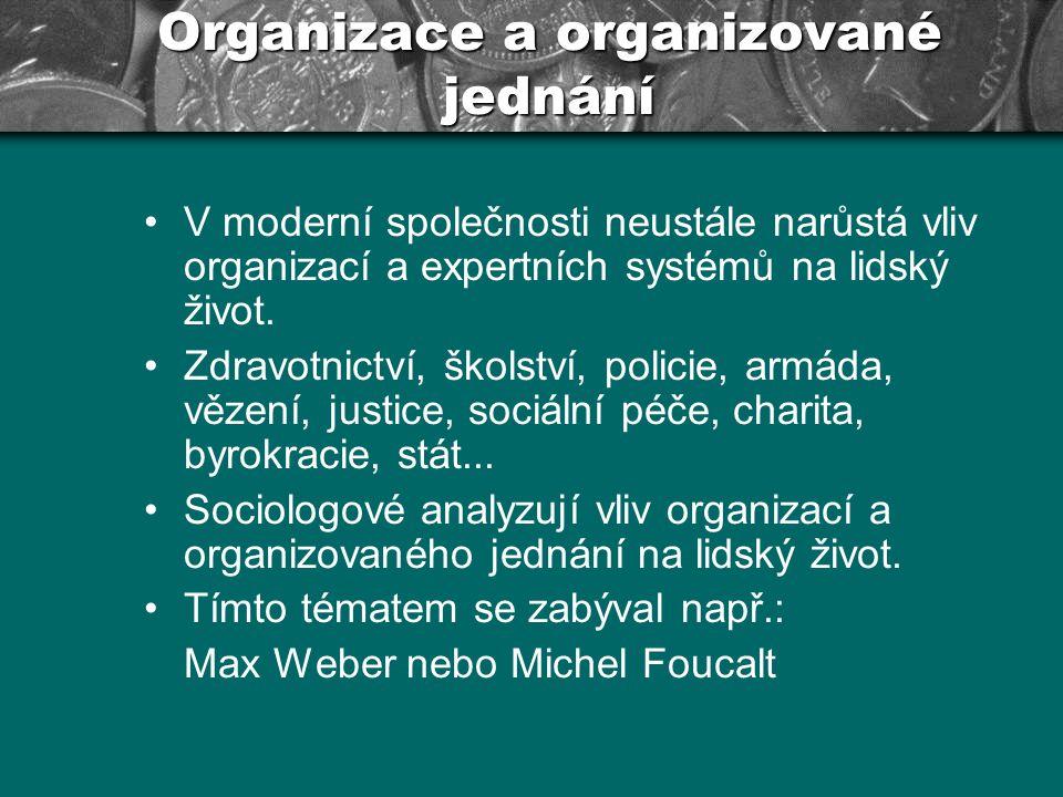 Organizace a organizované jednání