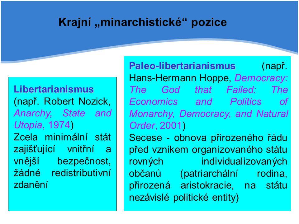"""Krajní """"minarchistické pozice"""