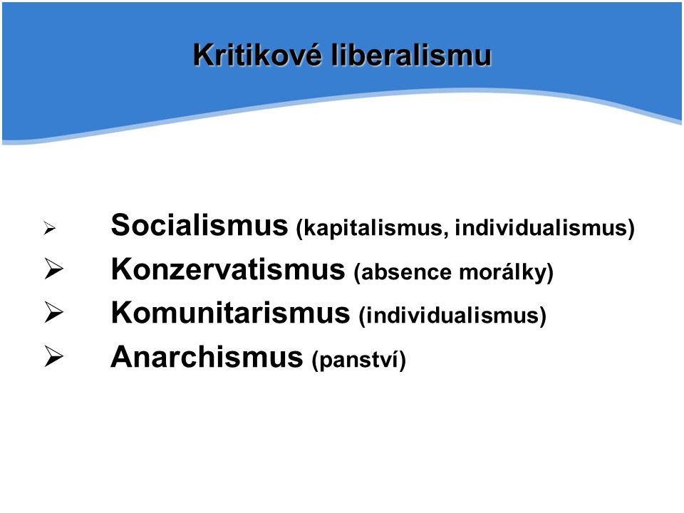Kritikové liberalismu