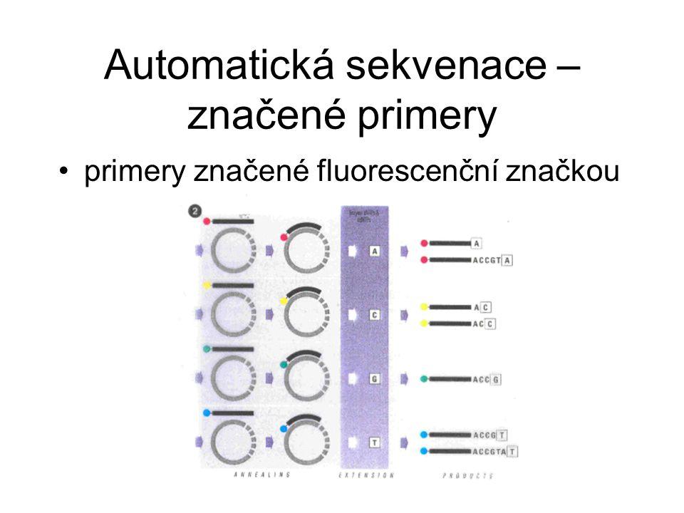 Automatická sekvenace – značené primery