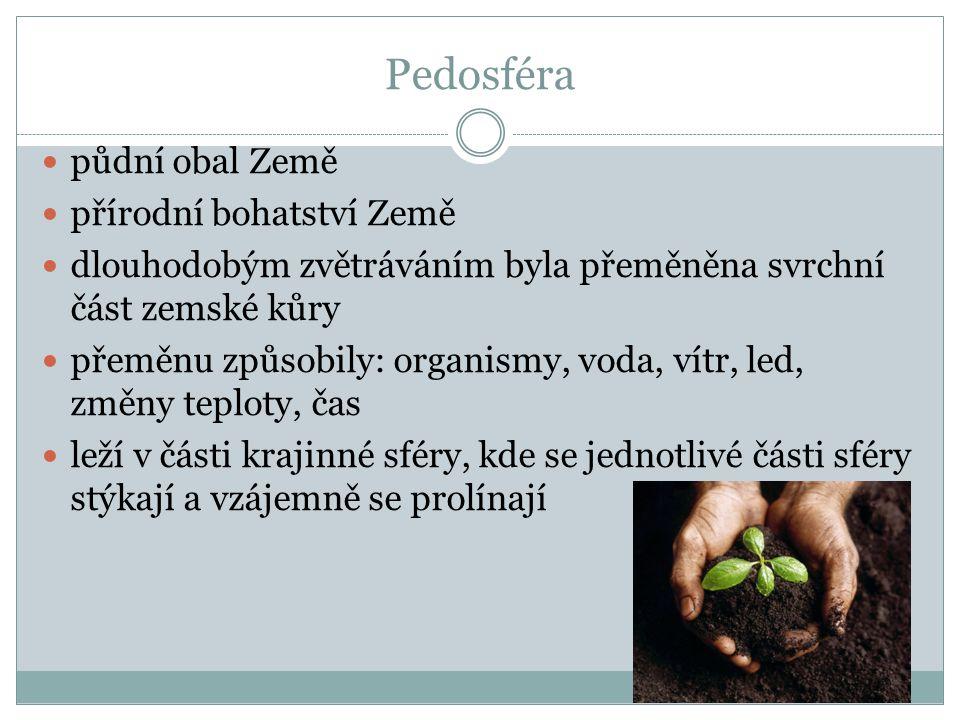 Pedosféra půdní obal Země přírodní bohatství Země