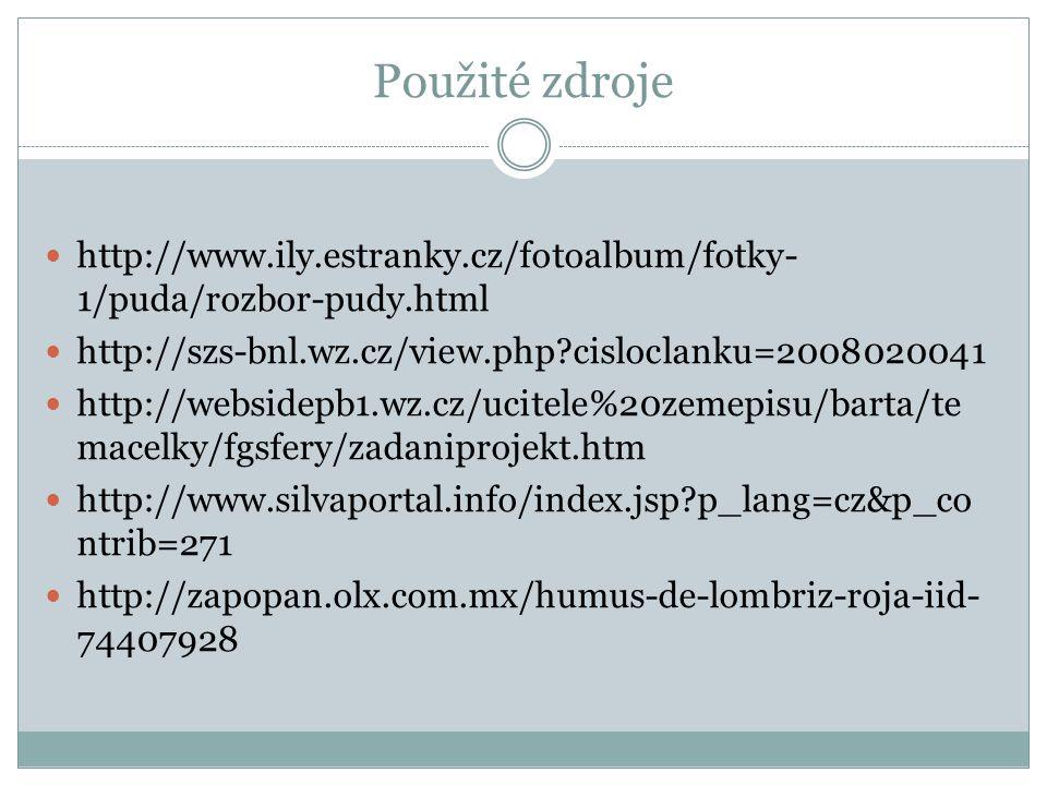Použité zdroje http://www.ily.estranky.cz/fotoalbum/fotky-1/puda/rozbor-pudy.html. http://szs-bnl.wz.cz/view.php cisloclanku=2008020041.