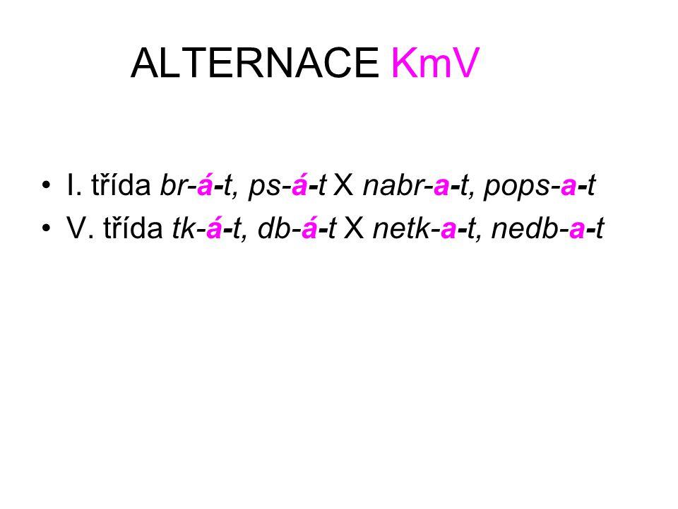 ALTERNACE KmV I. třída br-á-t, ps-á-t X nabr-a-t, pops-a-t