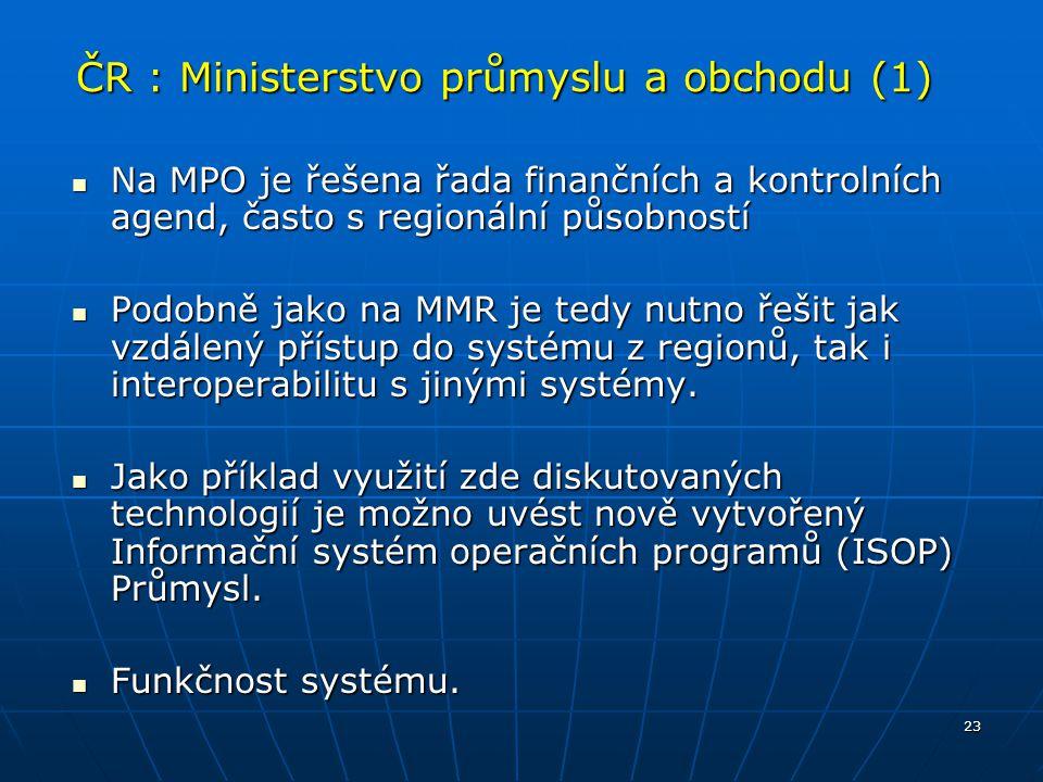 ČR : Ministerstvo průmyslu a obchodu (1)