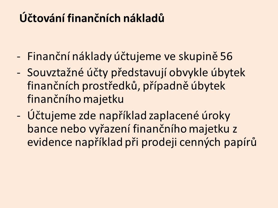 Účtování finančních nákladů
