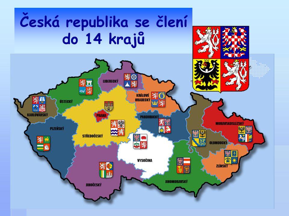 Česká republika se člení do 14 krajů