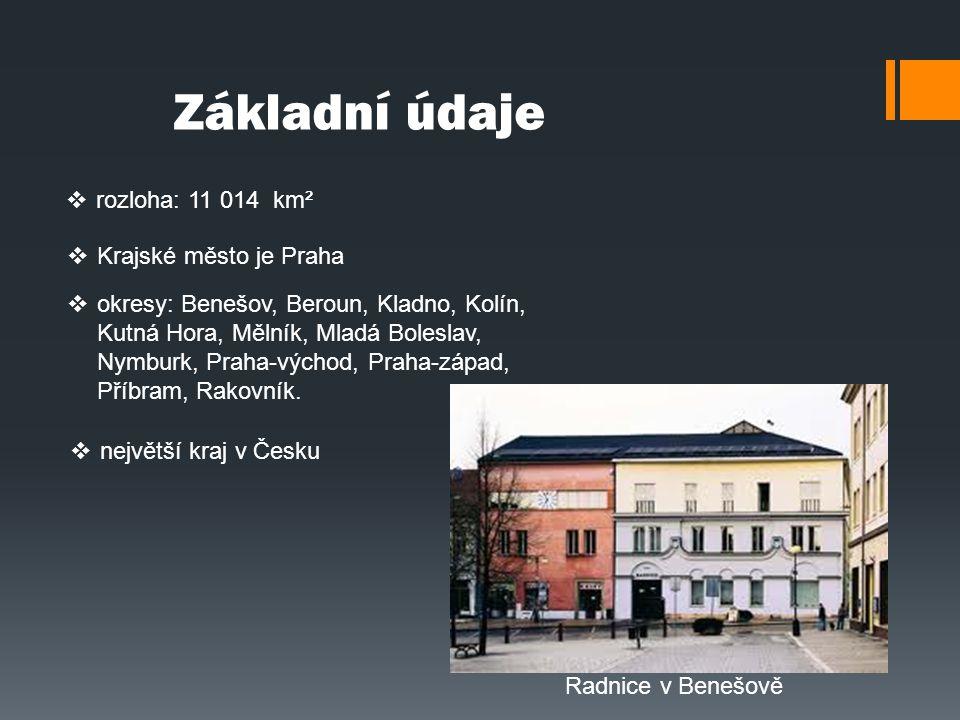 Základní údaje rozloha: 11 014 km² Krajské město je Praha