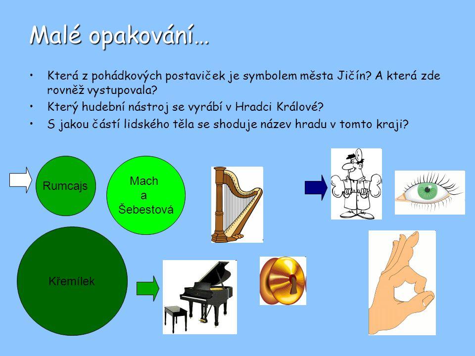 Malé opakování… Která z pohádkových postaviček je symbolem města Jičín A která zde rovněž vystupovala