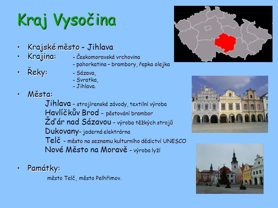 Kraj Vysočina Krajské město - Jihlava