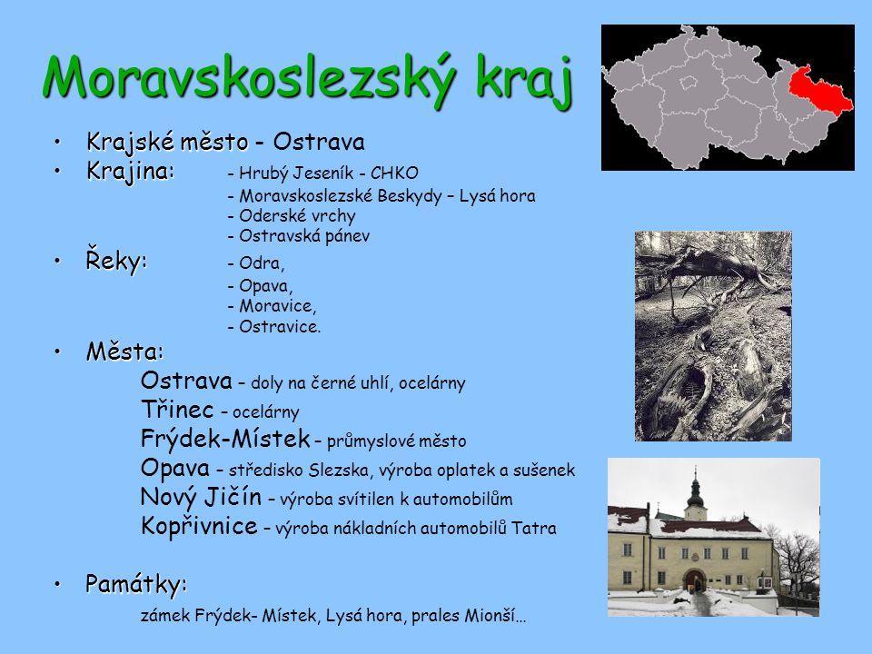 Moravskoslezský kraj Krajské město - Ostrava