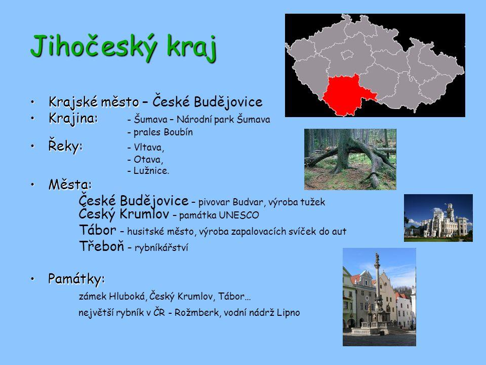 Jihočeský kraj Krajské město – České Budějovice